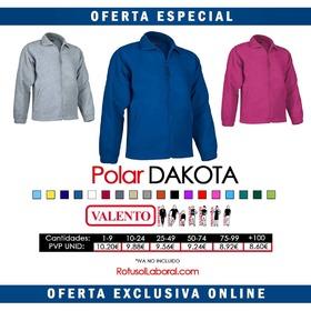 Polar Dakota fabricado en tejido micropolar antipeeling disponible hasta la 4XL desde solo 8.60€  #Rotusol #Valento #RotusolLaboral