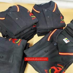 Polo España bordado con el logo de tu empresa disponible en 9 colores talla desde la XS a la 2XL también en modelo de mujer  Encuentralo en nuestra web #RotusolLaboral o haz tu pedido al 689 599 220